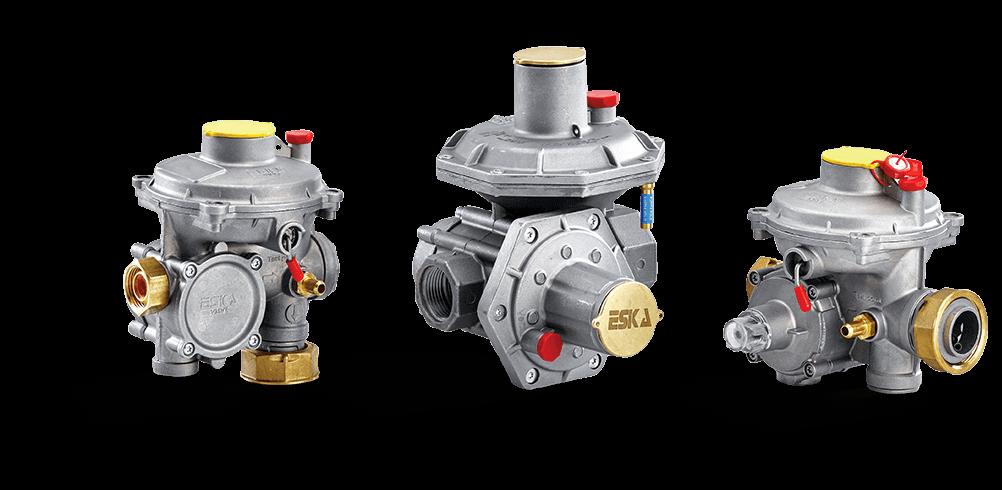 Double Stage Gas Pressure Regulators
